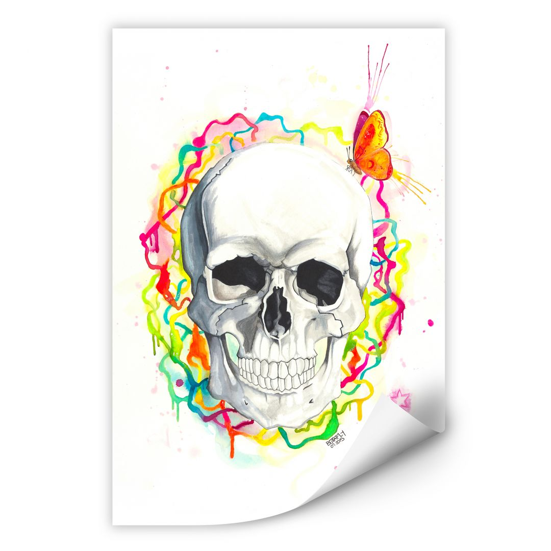Wallprint Buttafly - Skull