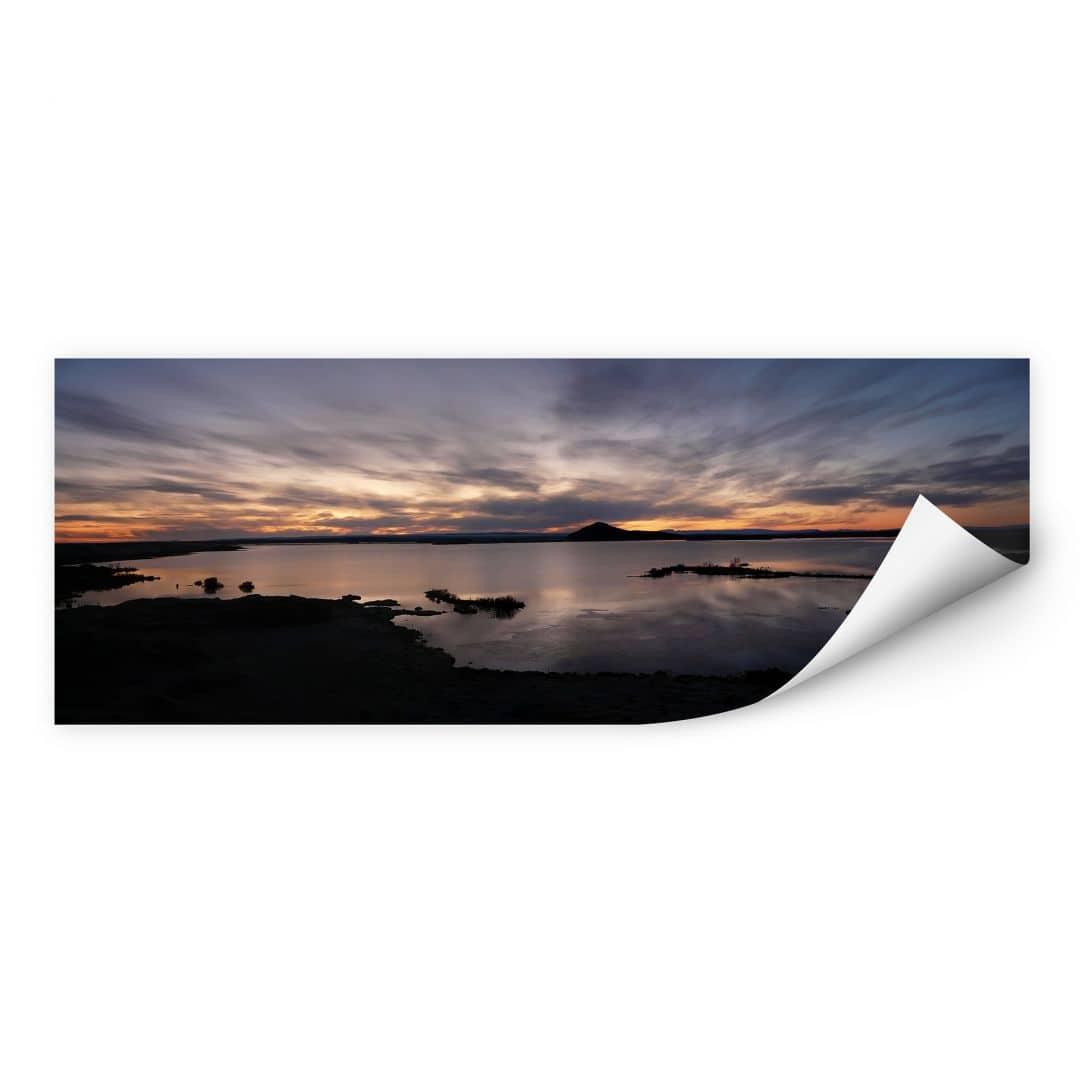 Wallprint W - Seepanorama im Sonnenuntergang