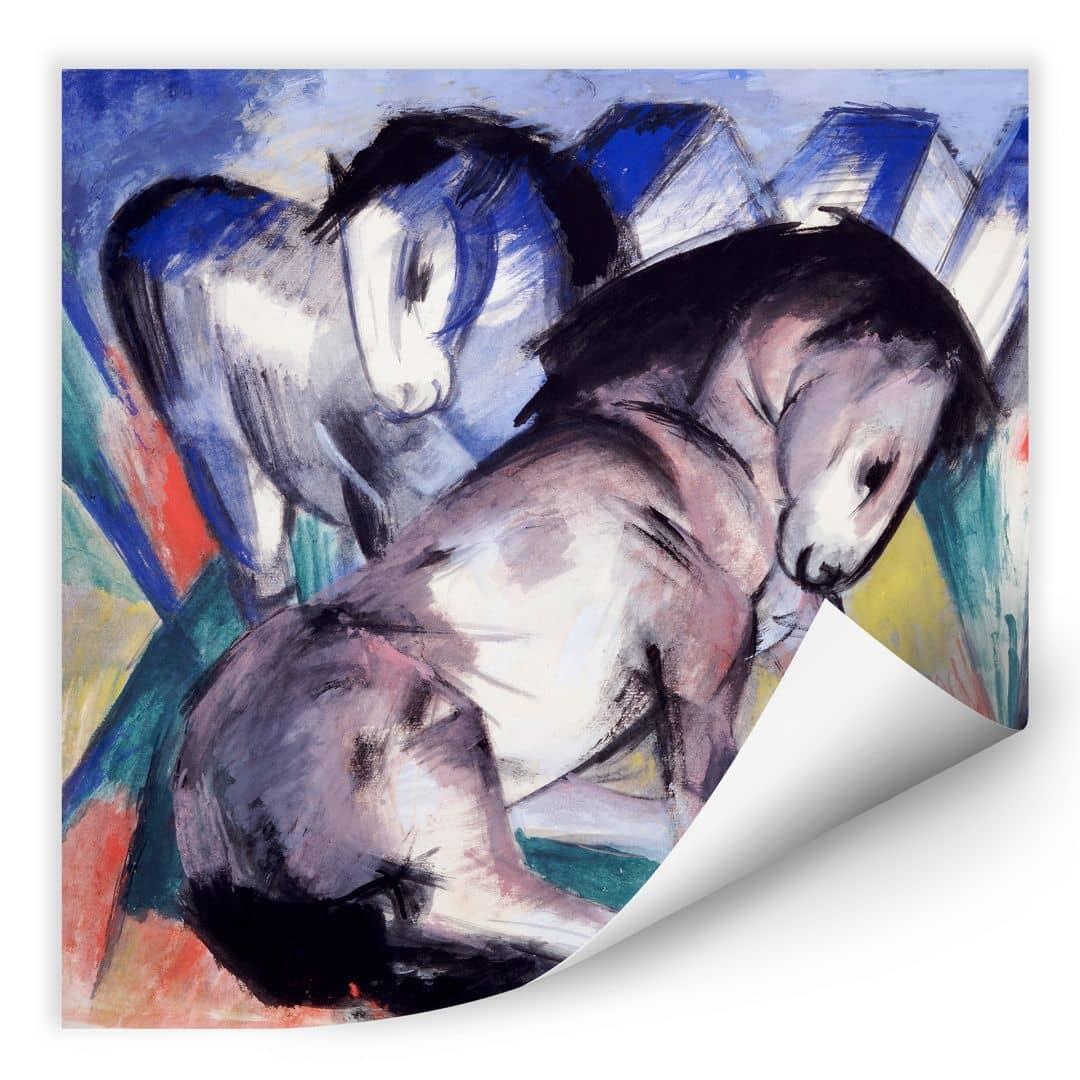 Wallprint W - Marc - Zwei Pferde - quadratisch