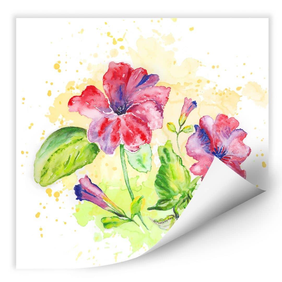 Wallprint Toetzke - Leuchtender Blütenkelch - quadratisch