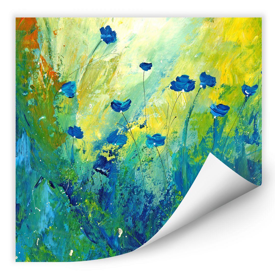 Wallprint Niksic - Der blaue Mohn