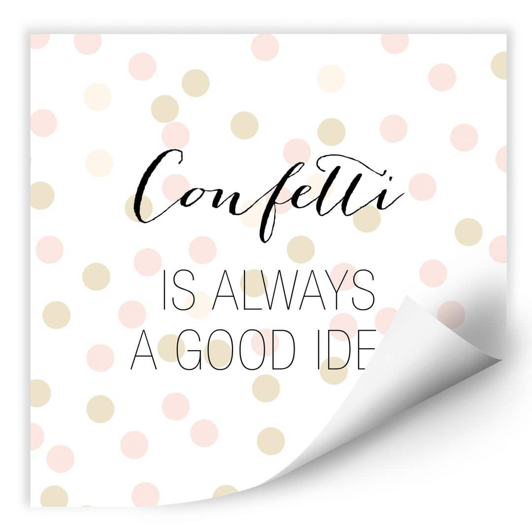 Wallprint Confetti & Cream - Confetti is always a good idea