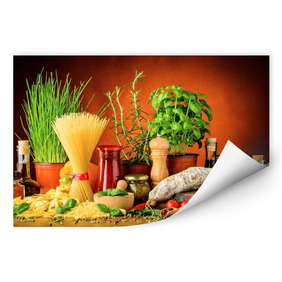 Wallprint W - Italienisch Kochen