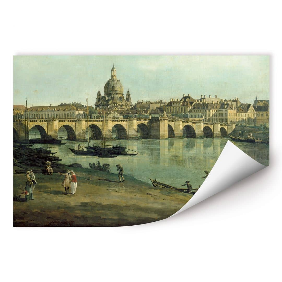 Wallprint W - Canaletto - Dresden vom rechten Elbufer