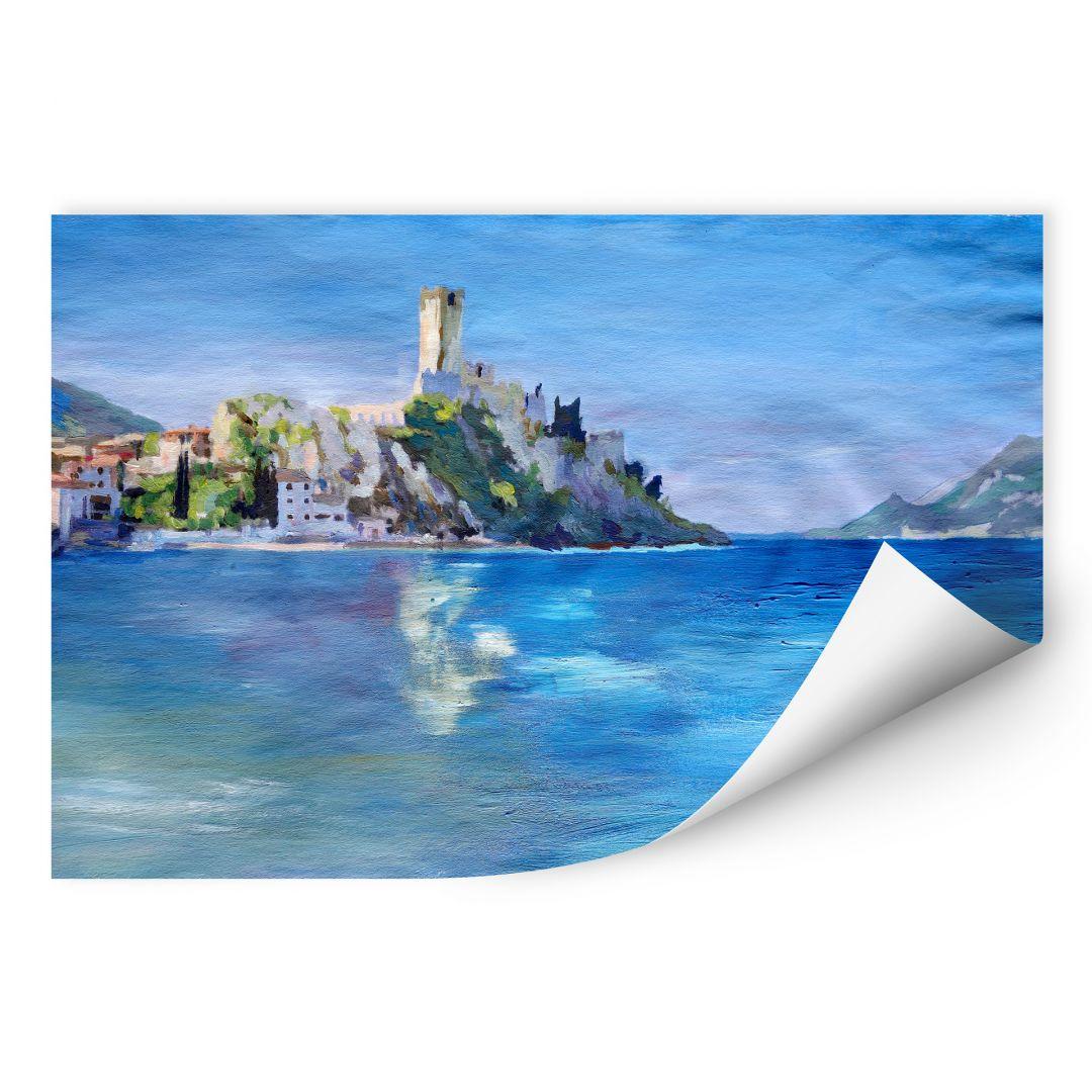Wallprint W - Bleichner - Malcesine mit der Castello Scaligero