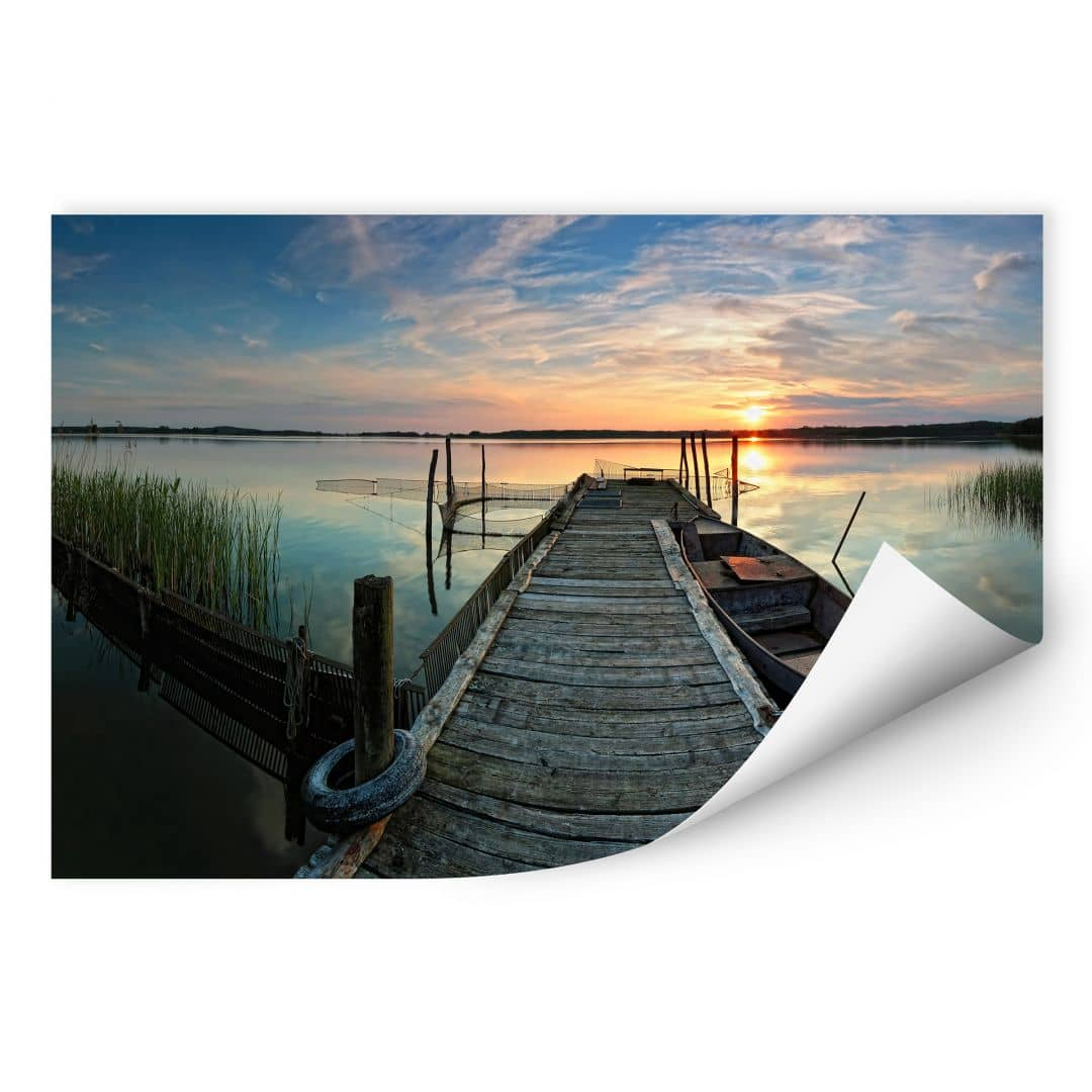 Wallprint W - Sunset at the lake