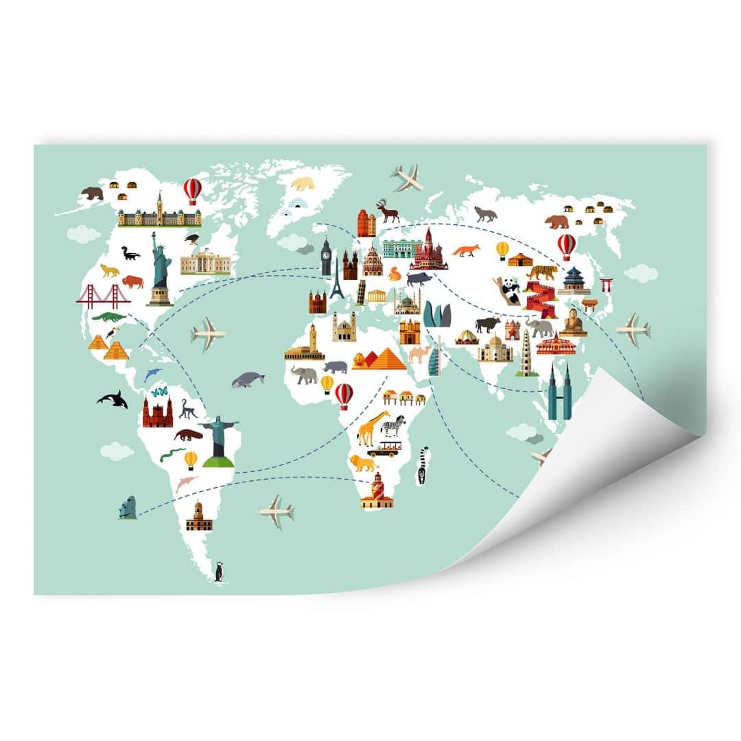 Muurprint Travel the World