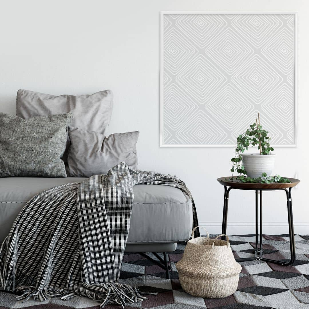 Wandsticker + Zierleisten Modern Grey - quadratisch