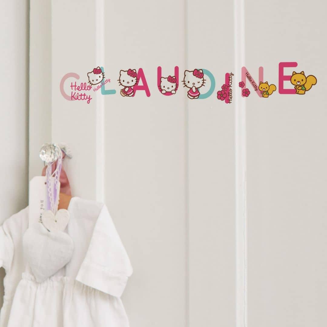 Wandsticker Buchstaben Hello Kitty | wall-art.de