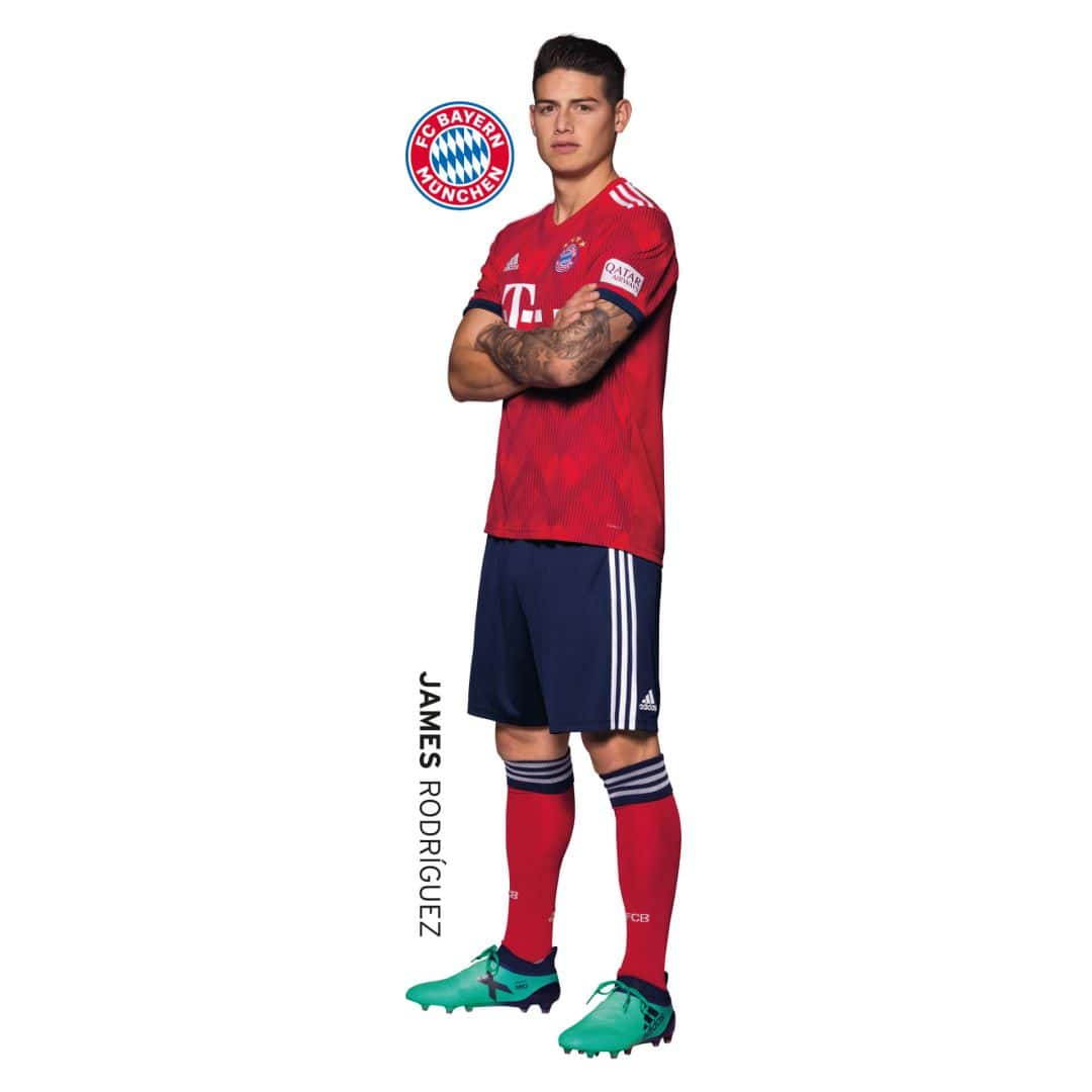 Wandsticker FCB James Rodríguez