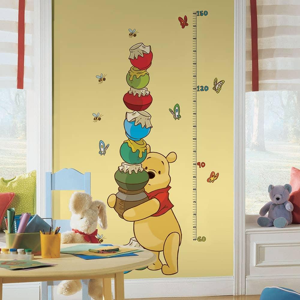 Muursticker Meetlat Winnie de Pooh - wall-art.nl