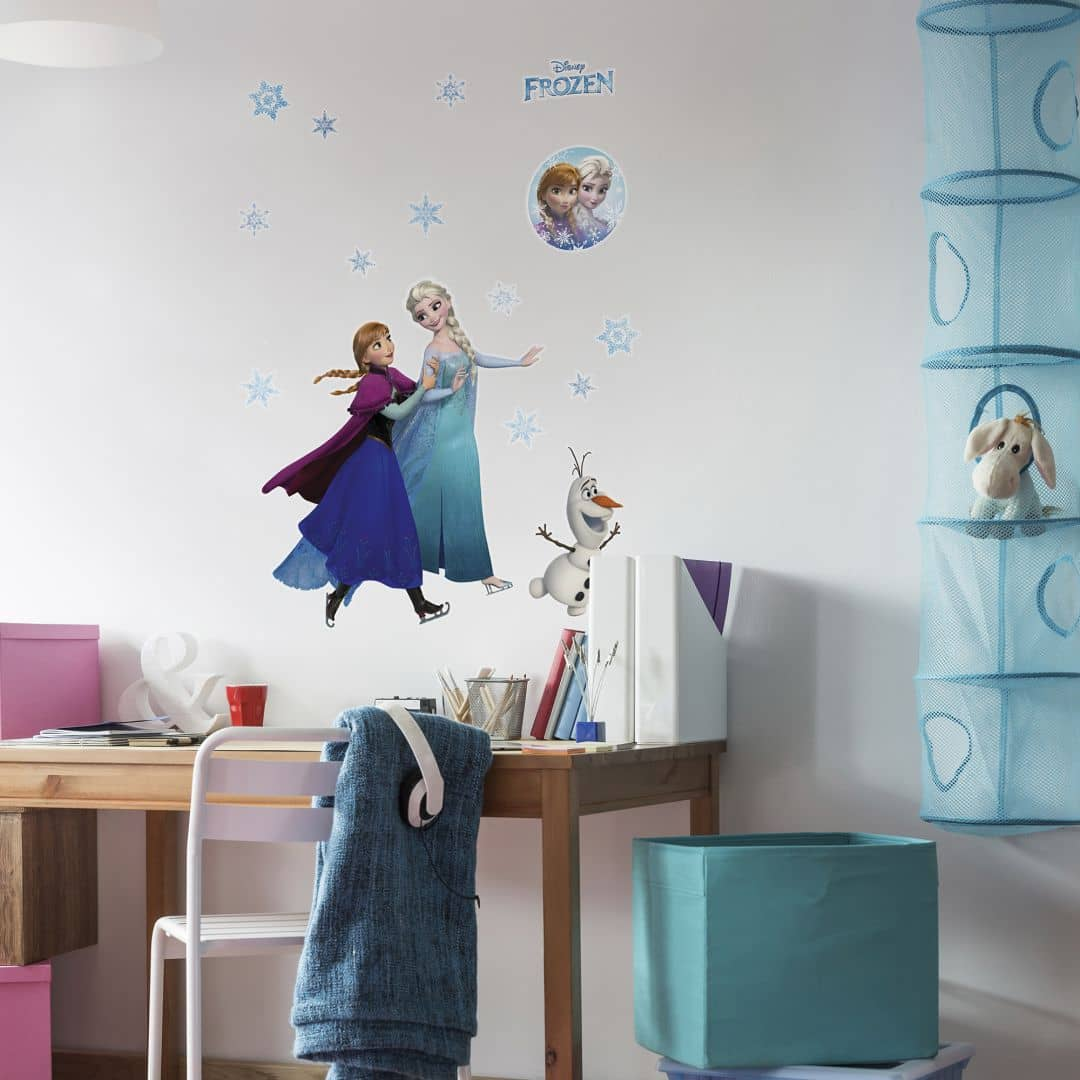 wall sticker set frozen anna and elsa. Black Bedroom Furniture Sets. Home Design Ideas