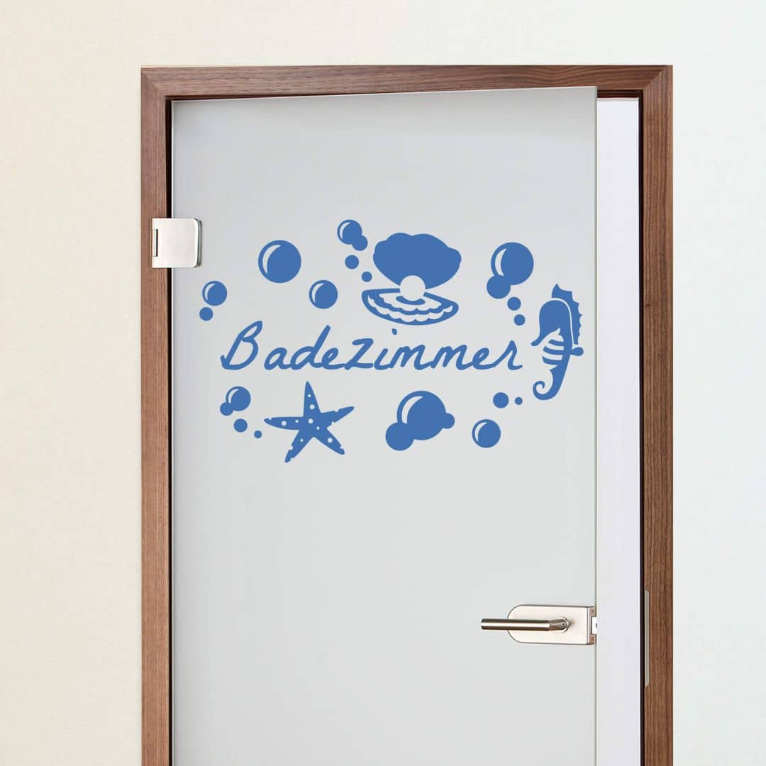 Wandtattoo Badezimmer - perfekt für die Badezimmertür | wall-art.de