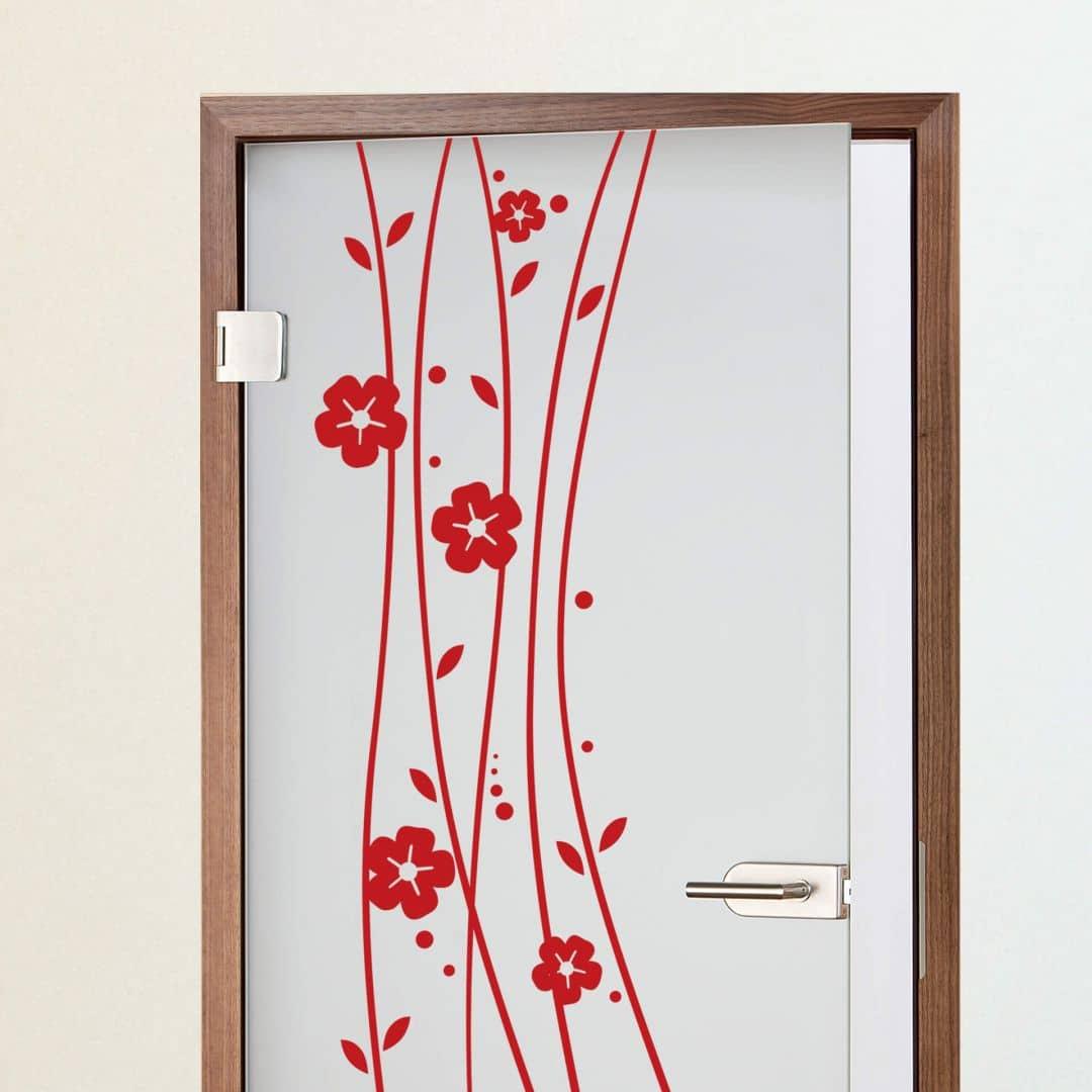 stickers de porte plante grimpante wall. Black Bedroom Furniture Sets. Home Design Ideas