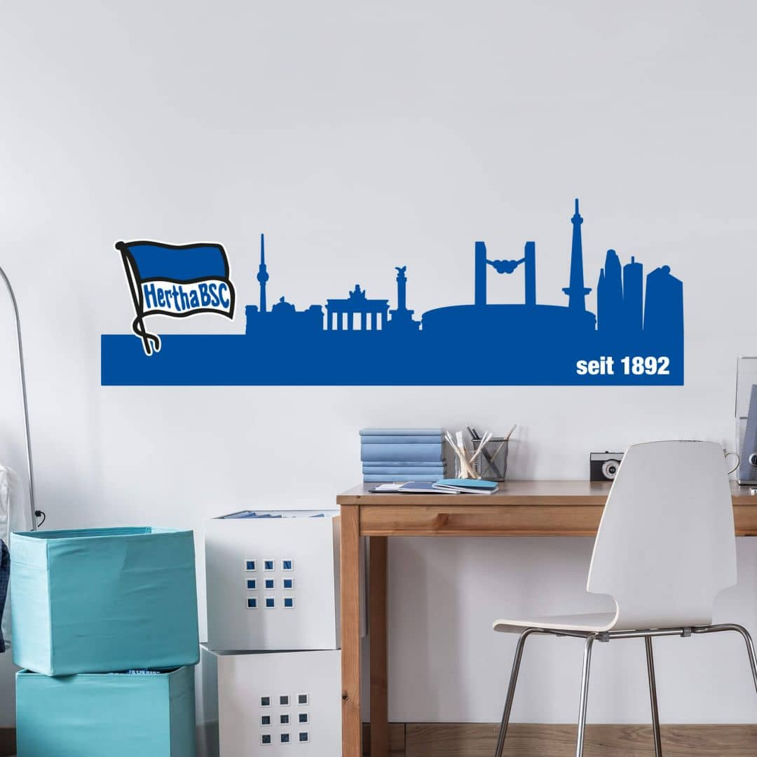 Wandtattoo Hertha BSC Skyline
