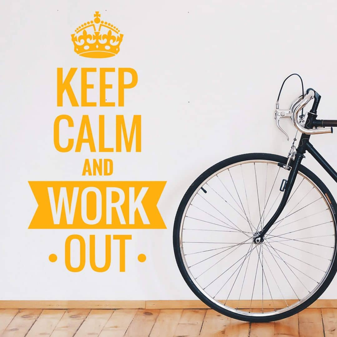Wall sticker Keep calm and work out