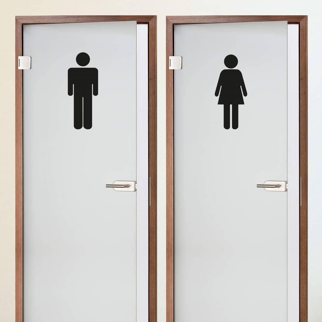 Wandtattoo Toilettenmännchen 3