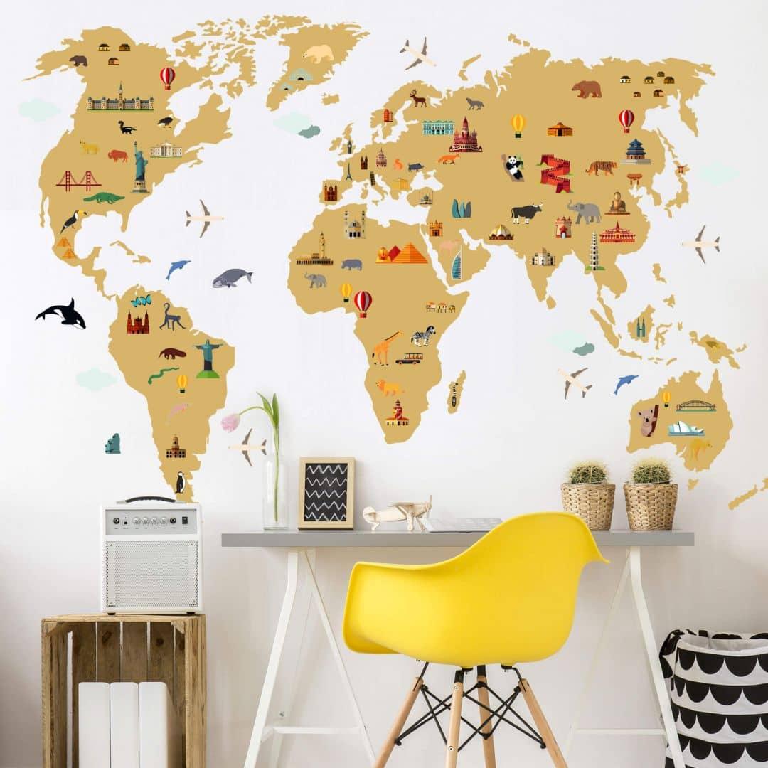 Wall sticker World Map - Travel the World