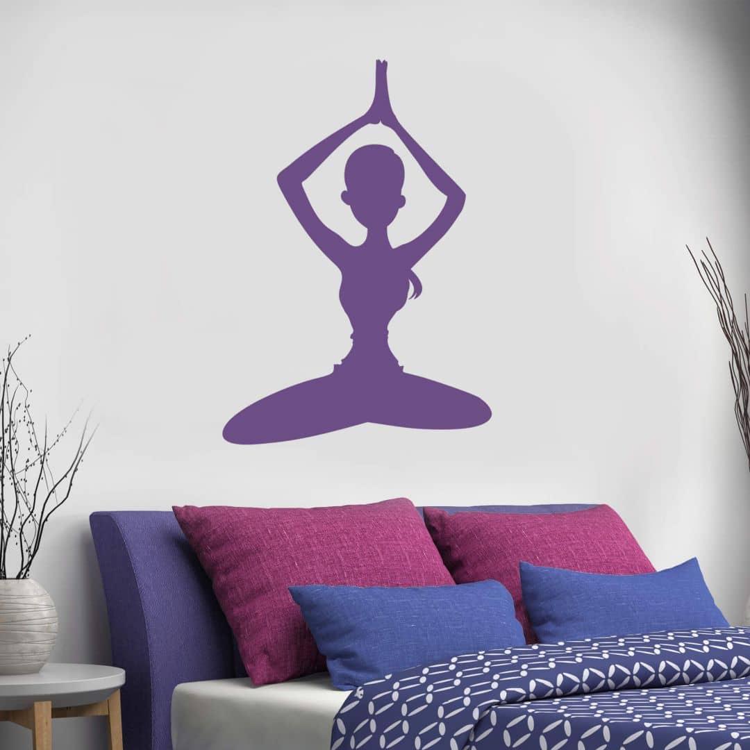 Wandtattoo Yoga Meditationsstellung 01
