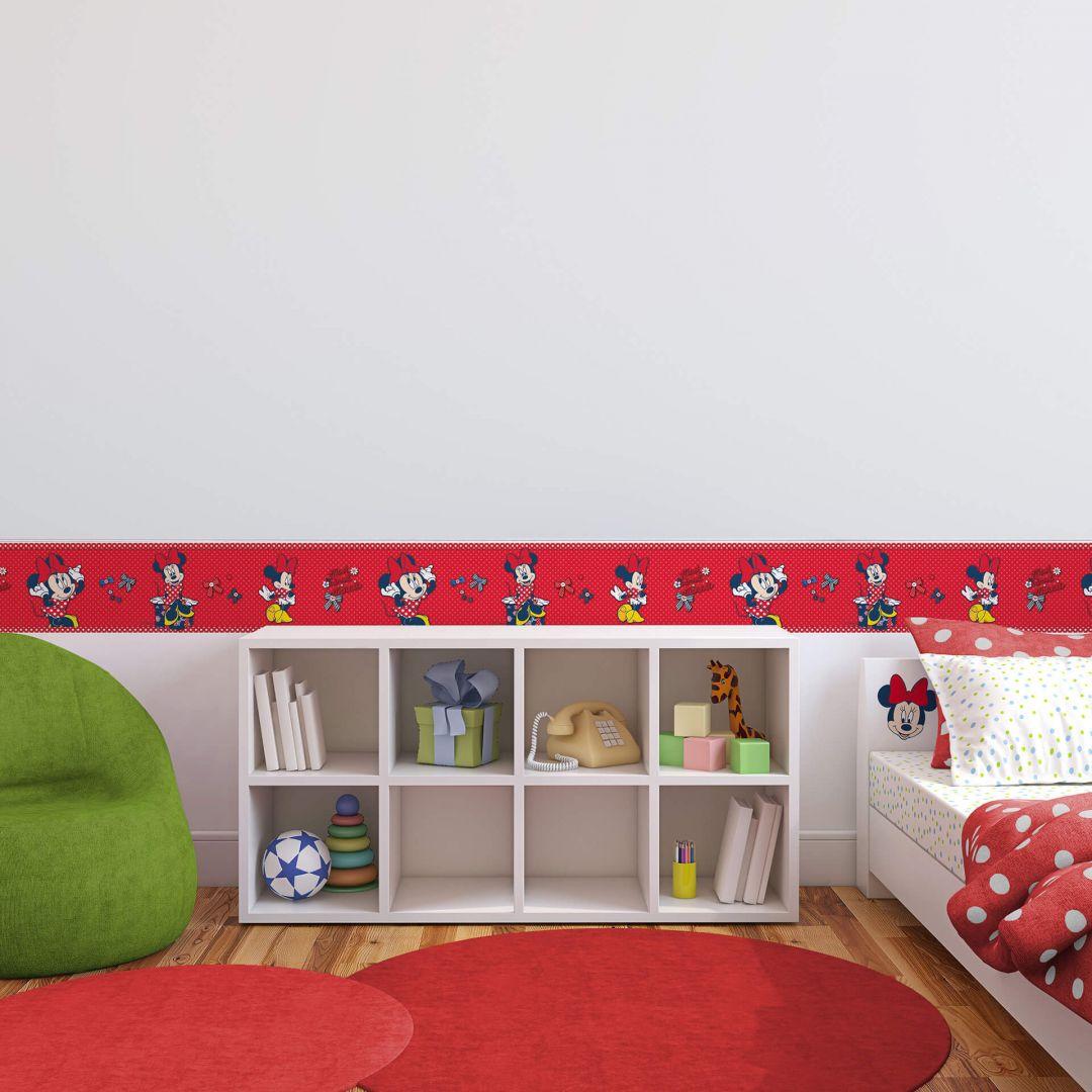 Adesivo murale bordo decorativo minnie mouse for Bordo adesivo decorativo