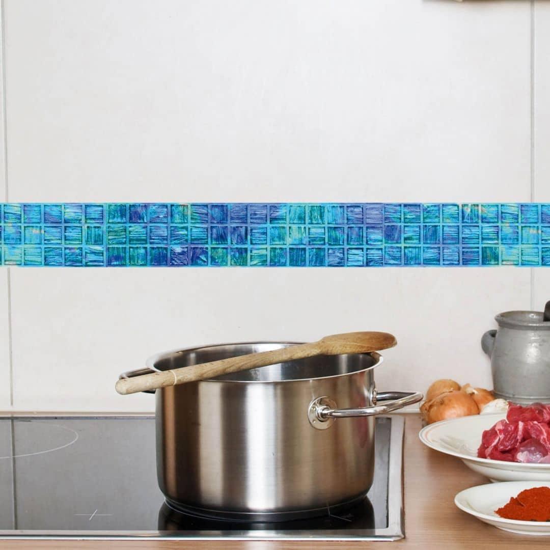 Bord re glasmosaik sch ne deko f r die wand wall for Greche decorative per cucina