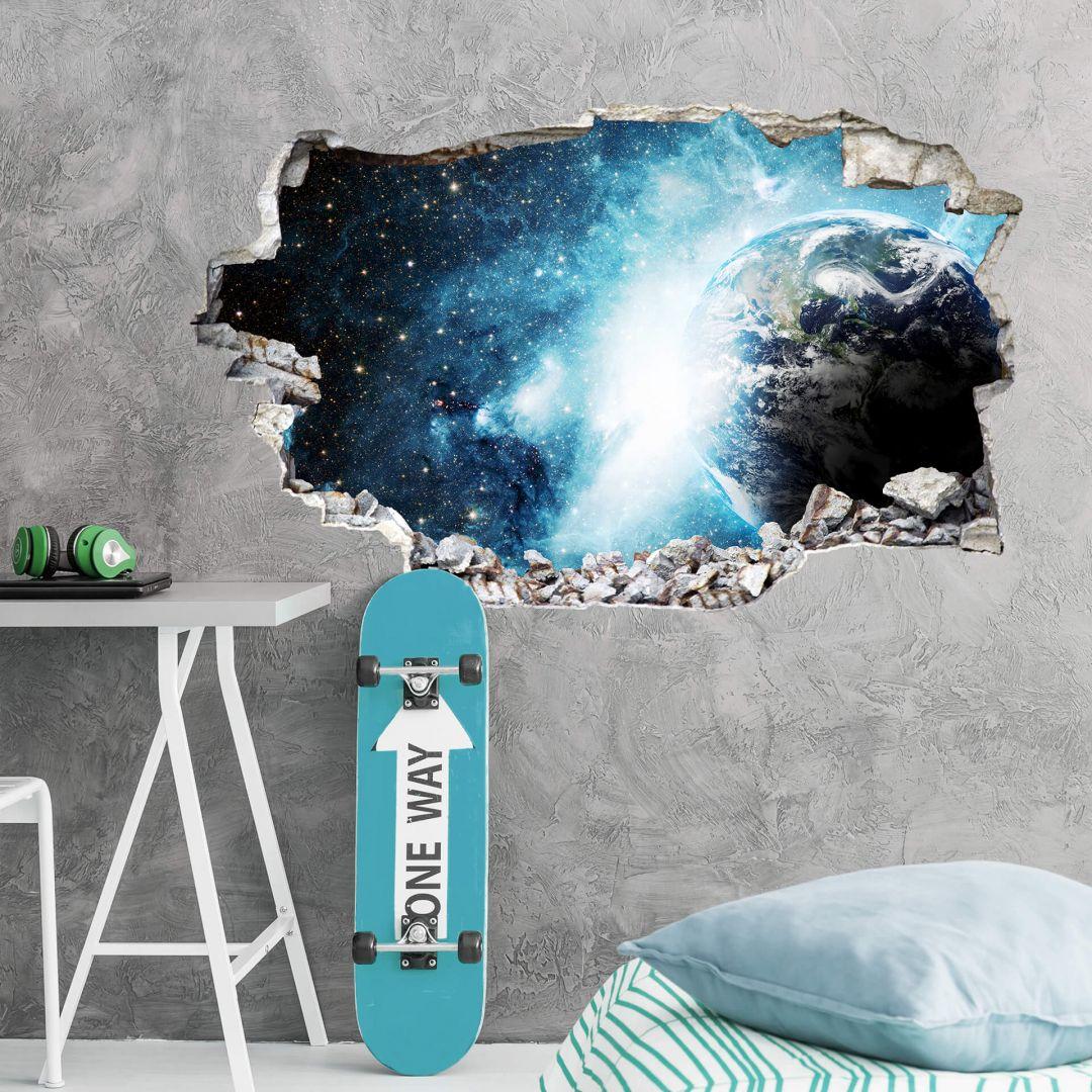 3D Wandsticker In einer fernen Galaxie