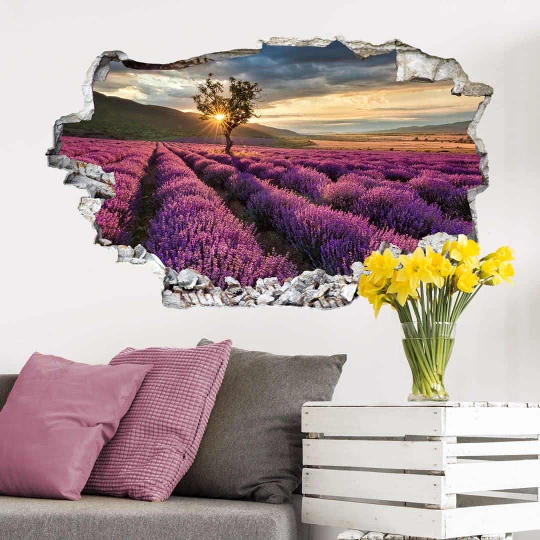 3D Muursticker Lavendel in de Provence