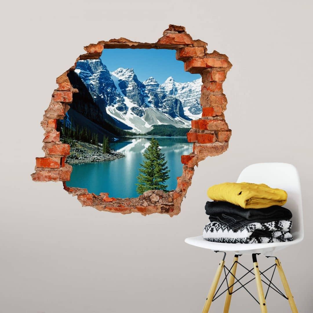 3D Muursticker Sprookje in de Bergen