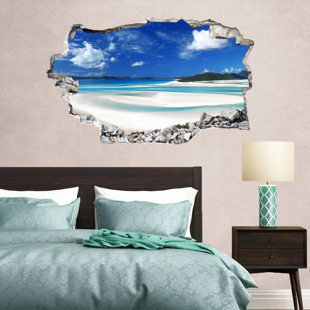 3D Muursticker Whitehaven Beach