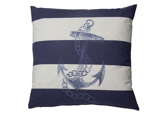 Homing Kissenhülle Anker blau