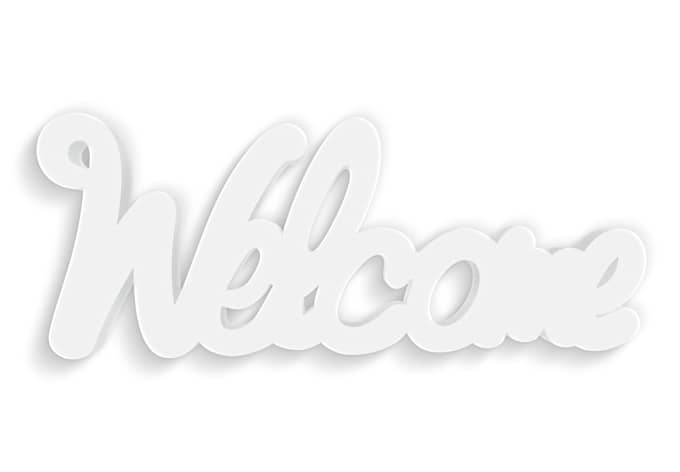 Decoratieletters   3D-Welcome