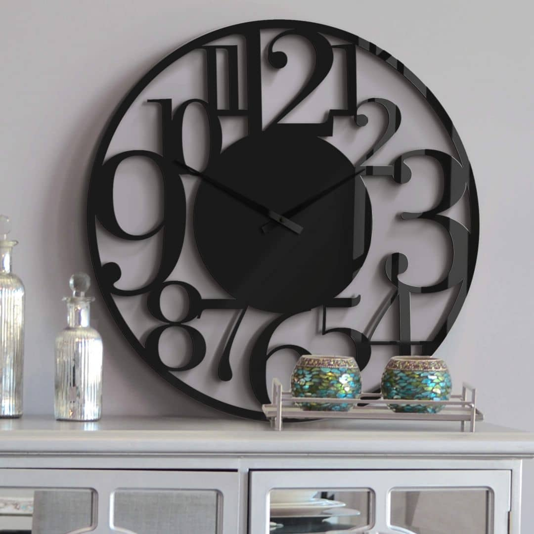 XXL Wall Clock - Black Ø 70 cm