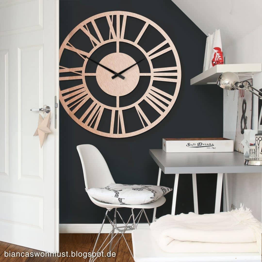 XXL Clock Aluminium Copper effect