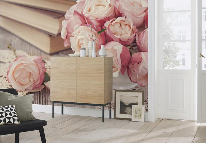 fototapete rosa rosen von k l wall art f r das. Black Bedroom Furniture Sets. Home Design Ideas