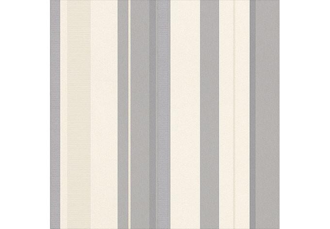 Rasch vliestapete en suite streifen 546538 grau wall for Mustertapete grau