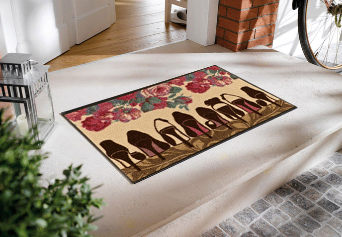 fu matte high heels flur deko f r frauen wall. Black Bedroom Furniture Sets. Home Design Ideas