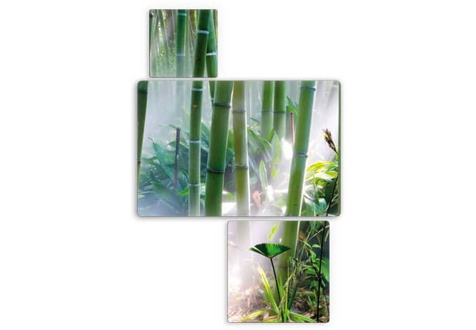 3 teiliges glasbild bamboo forest von k l wall art wall. Black Bedroom Furniture Sets. Home Design Ideas