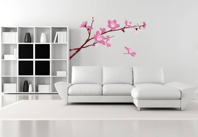 Wandtattoo Kirschblüten 03