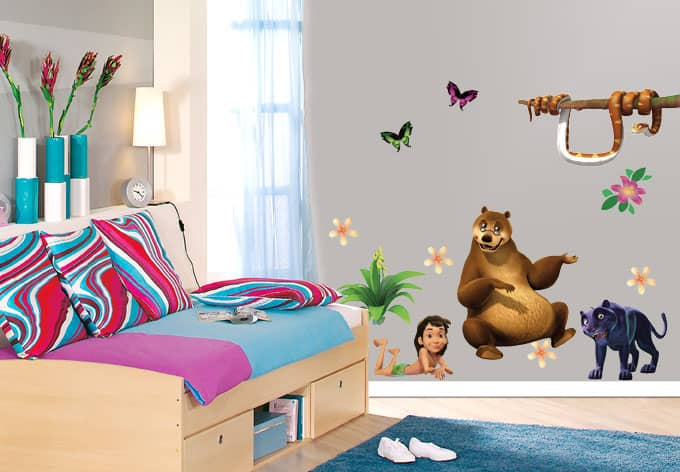Junglebook set 01 wall sticker wall - Jungle wandtattoo ...