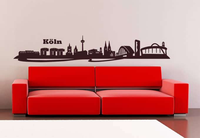 wandtattoo k ln skyline 3 k lner deko wall. Black Bedroom Furniture Sets. Home Design Ideas