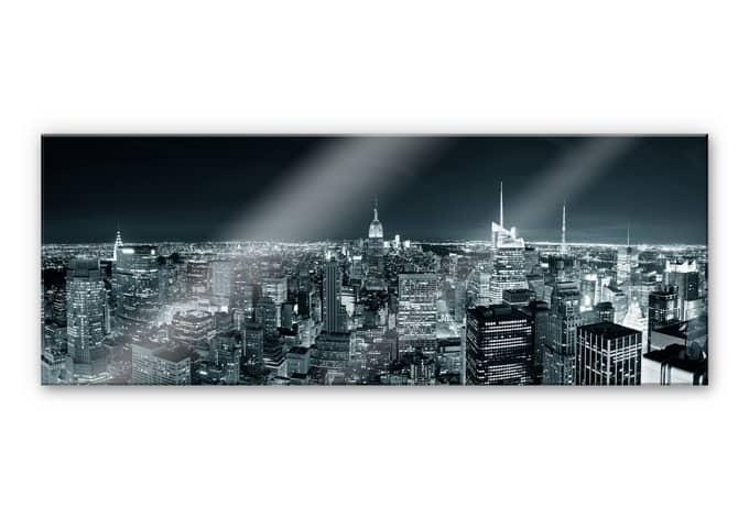 acrylglasbild new york at night 2 panorama das xxl motiv von k l wall art wall. Black Bedroom Furniture Sets. Home Design Ideas