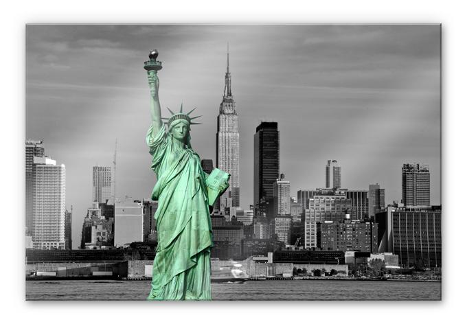 acrylglas wandbild statue of liberty wall. Black Bedroom Furniture Sets. Home Design Ideas