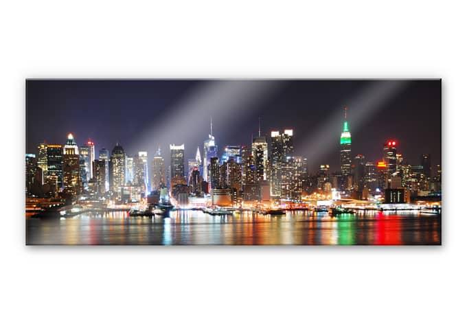 acrylglasbild new york skyline panorama wall. Black Bedroom Furniture Sets. Home Design Ideas