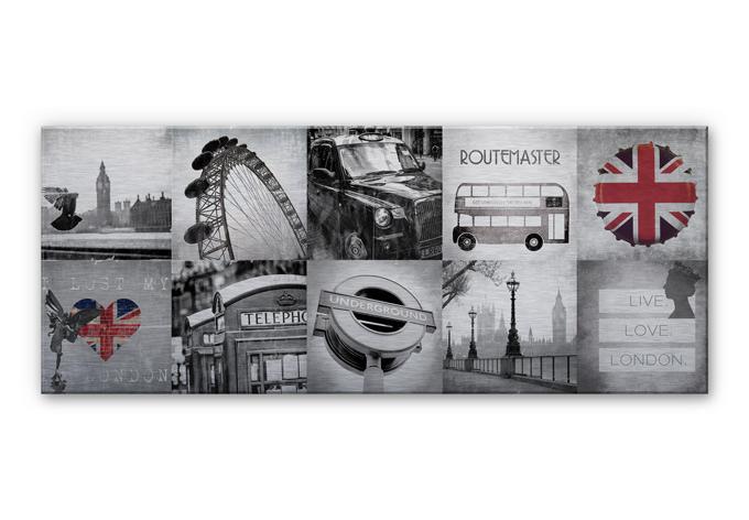 alu dibond wandbild impressions of london panorama wall. Black Bedroom Furniture Sets. Home Design Ideas