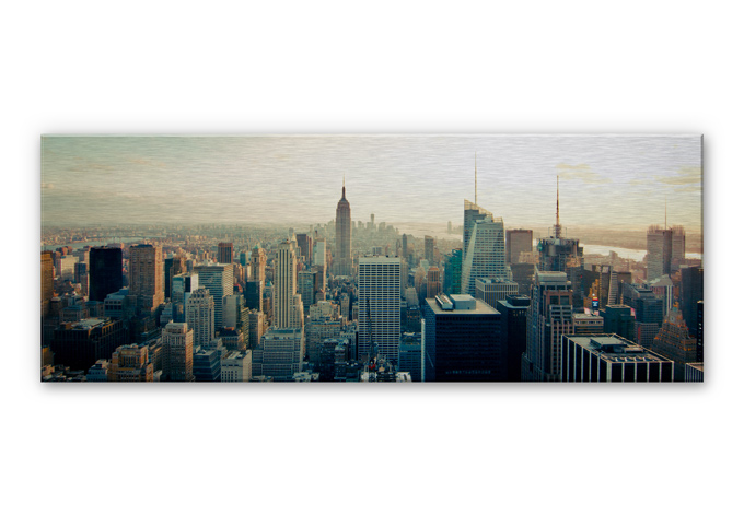 alu dibond wandbild skyline von new york city panorama. Black Bedroom Furniture Sets. Home Design Ideas