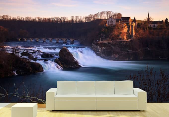 fototapete rheinfall wall. Black Bedroom Furniture Sets. Home Design Ideas