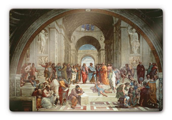 Glasbild Raffael - Die Schule von Athen