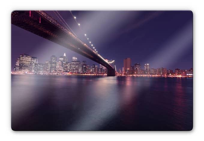 glas wandbild lights in new york city wall. Black Bedroom Furniture Sets. Home Design Ideas