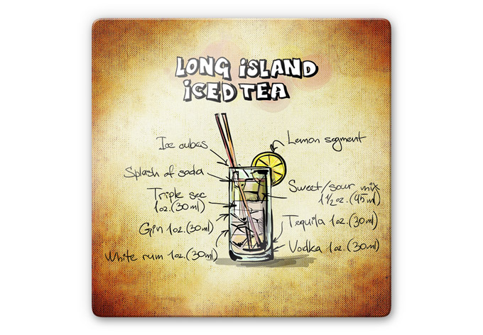 glas wandbild long island iced tea rezept wall. Black Bedroom Furniture Sets. Home Design Ideas
