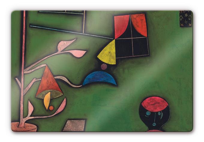 Kunstdruck paul klee stillleben mit pflanze und fenster for Fenster 60x40
